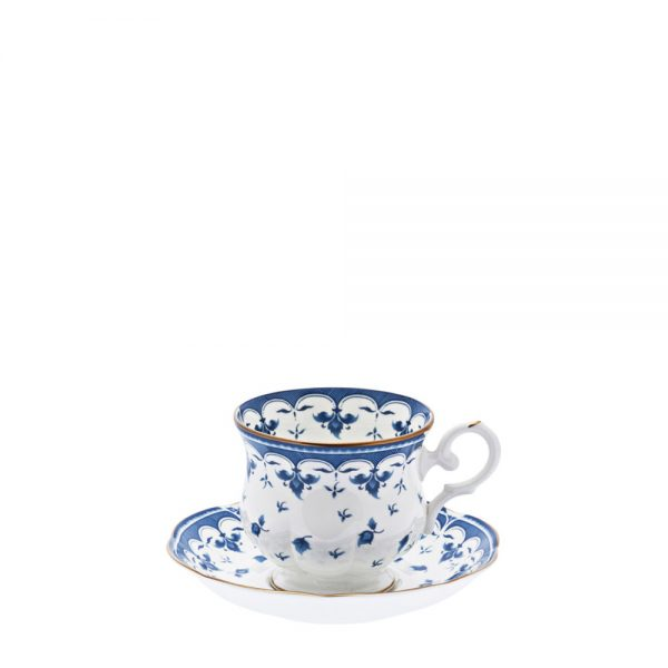XICARA PIRES CAFE BLUE LEAF 100 ML   12 CM PORCELANA CX C  6 - MCD ... 48449b55a7e