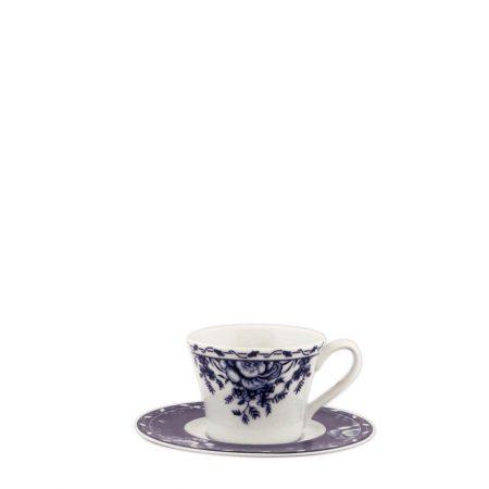 XICARA PIRES CAFE TUDOR ROSE PORCELANA CX C  6 e336bf9f8e9